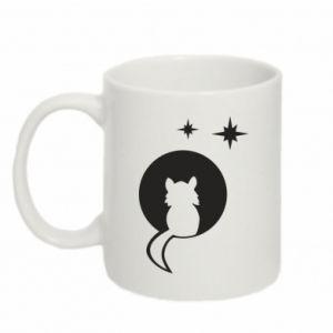 Mug 330ml The cat sits on the moon