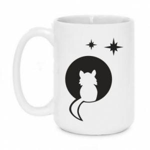 Mug 450ml The cat sits on the moon - PrintSalon