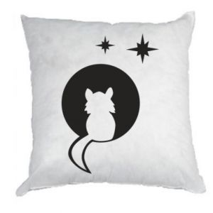 Pillow The cat sits on the moon - PrintSalon