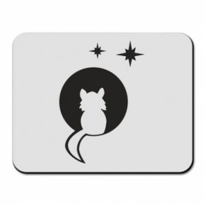Mouse pad The cat sits on the moon - PrintSalon