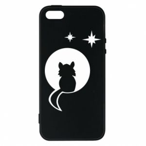 Phone case for iPhone 5/5S/SE The cat sits on the moon - PrintSalon