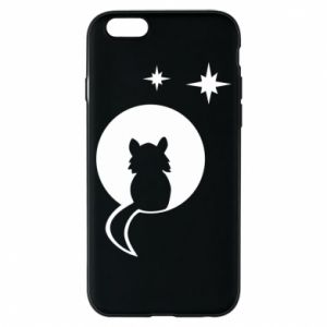 Phone case for iPhone 6/6S The cat sits on the moon - PrintSalon