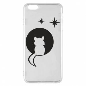 Phone case for iPhone 6 Plus/6S Plus The cat sits on the moon - PrintSalon