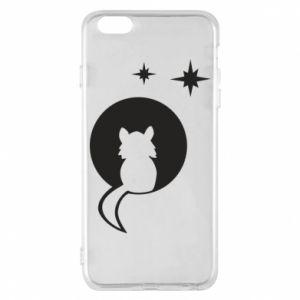 Etui na iPhone 6 Plus/6S Plus Kot siedzi na księżycu