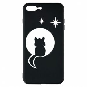 Phone case for iPhone 7 Plus The cat sits on the moon - PrintSalon