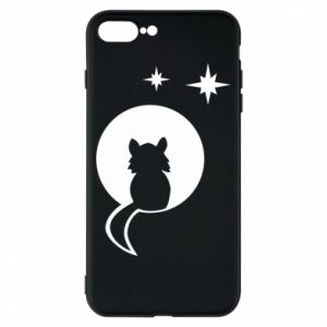 Phone case for iPhone 8 Plus The cat sits on the moon - PrintSalon