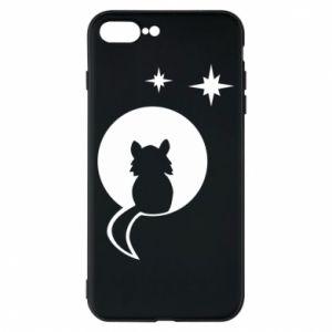 Etui na iPhone 8 Plus Kot siedzi na księżycu