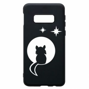 Phone case for Samsung S10e The cat sits on the moon - PrintSalon