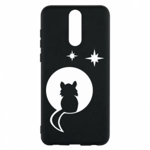 Phone case for Huawei Mate 10 Lite The cat sits on the moon - PrintSalon