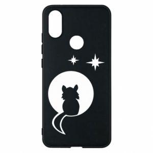 Etui na Xiaomi Mi A2 Kot siedzi na księżycu