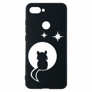Etui na Xiaomi Mi8 Lite Kot siedzi na księżycu