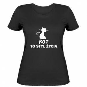 Damska koszulka Kot to styl życia