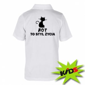 Koszulka polo dziecięca Kot to styl życia