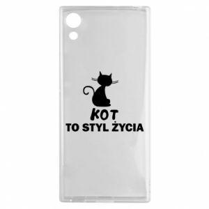 Etui na Sony Xperia XA1 Kot to styl życia