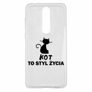 Etui na Nokia 5.1 Plus Kot to styl życia