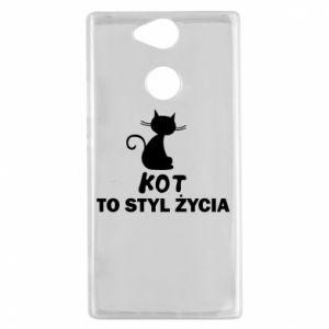Etui na Sony Xperia XA2 Kot to styl życia