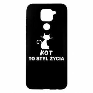 Etui na Xiaomi Redmi Note 9/Redmi 10X Kot to styl życia
