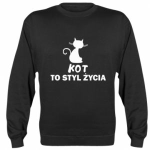 Sweatshirt A cat is a lifestyle