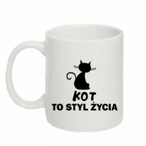 Mug 330ml A cat is a lifestyle