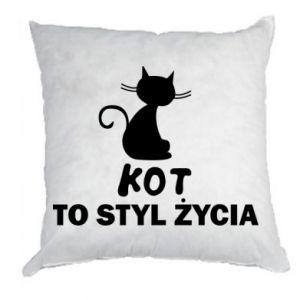 Poduszka Kot to styl życia
