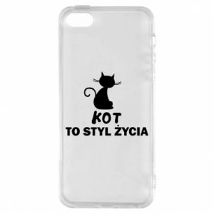 Etui na iPhone 5/5S/SE Kot to styl życia