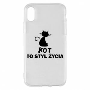 Etui na iPhone X/Xs Kot to styl życia