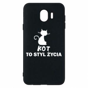 Etui na Samsung J4 Kot to styl życia