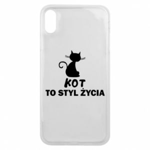Etui na iPhone Xs Max Kot to styl życia