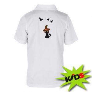 Children's Polo shirts Cat in a hat - PrintSalon