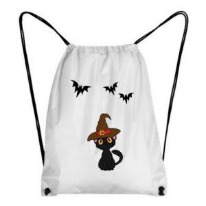 Backpack-bag Cat in a hat - PrintSalon