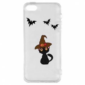 Phone case for iPhone 5/5S/SE Cat in a hat - PrintSalon