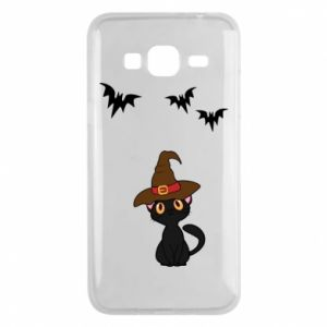 Phone case for Samsung J3 2016 Cat in a hat - PrintSalon