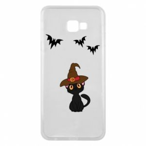 Phone case for Samsung J4 Plus 2018 Cat in a hat - PrintSalon