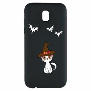 Phone case for Samsung J5 2017 Cat in a hat - PrintSalon