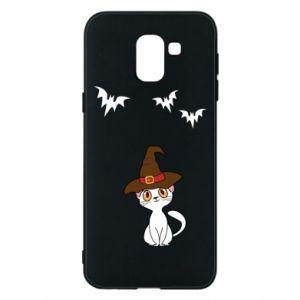 Phone case for Samsung J6 Cat in a hat - PrintSalon