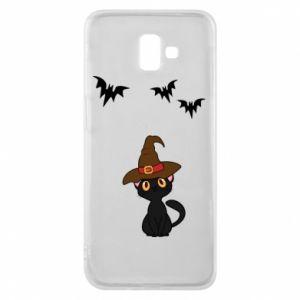 Phone case for Samsung J6 Plus 2018 Cat in a hat - PrintSalon