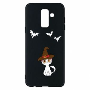 Phone case for Samsung A6+ 2018 Cat in a hat - PrintSalon