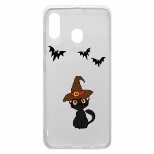 Phone case for Samsung A20 Cat in a hat - PrintSalon
