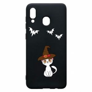 Phone case for Samsung A30 Cat in a hat - PrintSalon