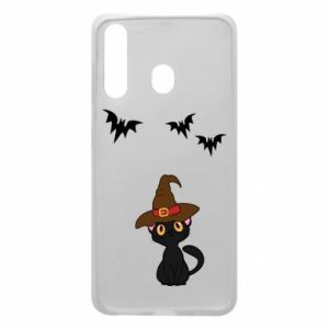 Phone case for Samsung A60 Cat in a hat - PrintSalon