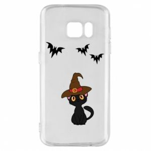 Phone case for Samsung S7 Cat in a hat - PrintSalon