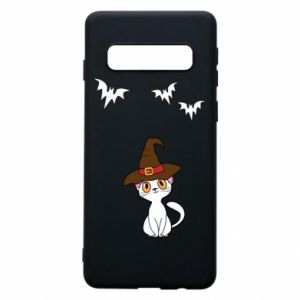 Phone case for Samsung S10 Cat in a hat - PrintSalon