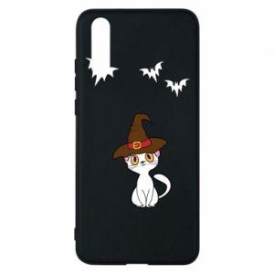 Phone case for Huawei P20 Cat in a hat - PrintSalon