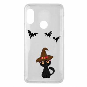 Phone case for Mi A2 Lite Cat in a hat - PrintSalon