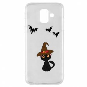 Phone case for Samsung A6 2018 Cat in a hat - PrintSalon