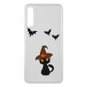 Phone case for Samsung A7 2018 Cat in a hat - PrintSalon