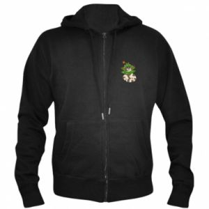 Men's zip up hoodie Cat