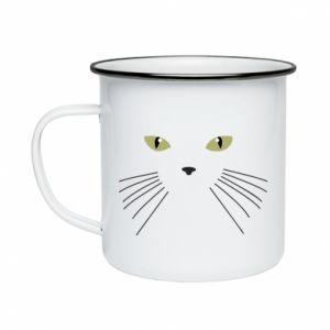 Enameled mug Muzzle Cat