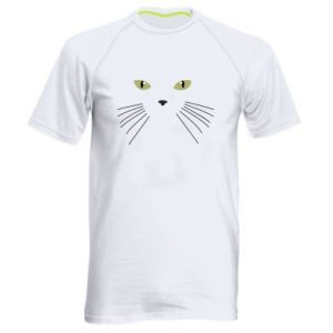 Men's sports t-shirt Muzzle Cat