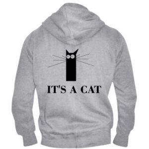 Męska bluza z kapturem na zamek It's a cat
